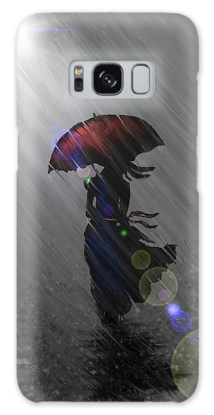 Rainy Walk Galaxy Case