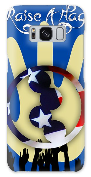 Art Institute Galaxy Case - Raise A Flag Cancer Research Institute by Marvin Blaine