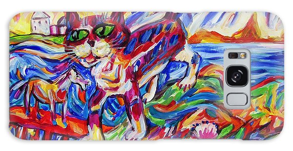 Raised Sea Bed Cat And Horse Galaxy Case