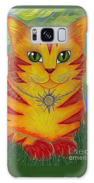 Rajah Golden Sun Cat Galaxy Case