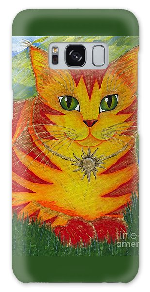 Rajah Golden Sun Cat Galaxy Case by Carrie Hawks