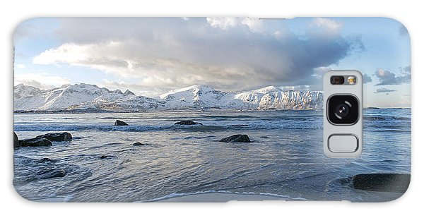 Ramberg Beach, Lofoten Nordland Galaxy Case