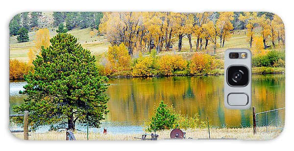 Ranch Pond In Autumn Galaxy Case