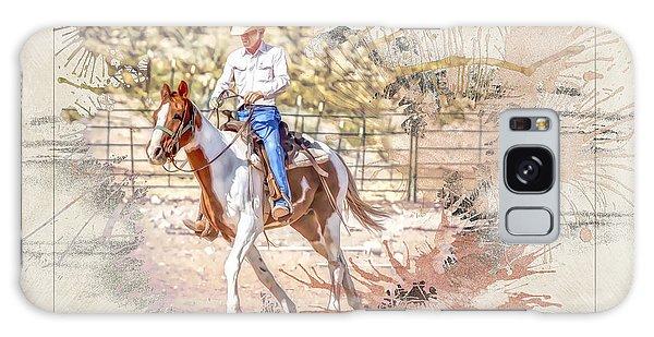 Ranch Rider Digital Art-b1 Galaxy Case