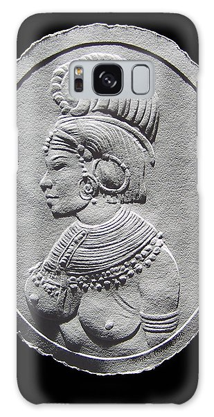 Randille Tribe Woman Relief Drawing Galaxy Case