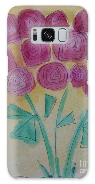 Randi's Roses Galaxy Case by Kim Nelson