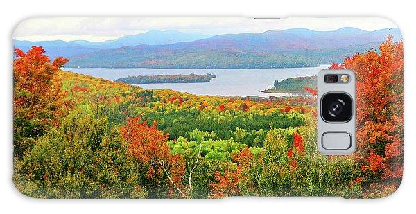 Rangeley Lake And Rangeley Plantation Galaxy Case by Mike Breau