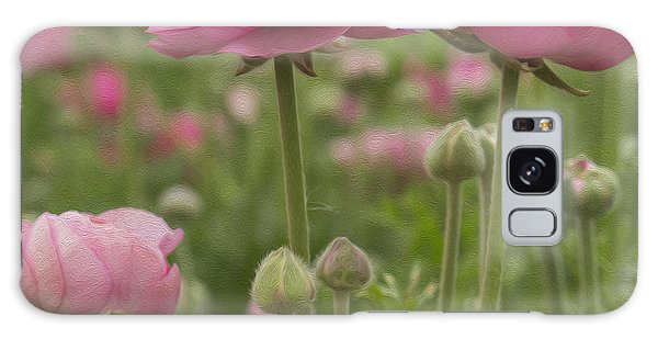 Ranunculus Flowers Galaxy Case