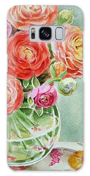 Ranunculus In The Glass Vase Galaxy Case