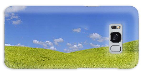 Rapeseed Landscape Galaxy Case by Marius Sipa