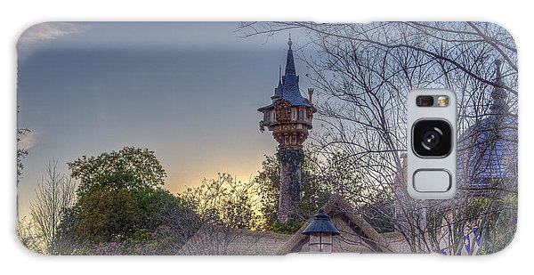 Rapunzel's Tower At Sunset Galaxy Case
