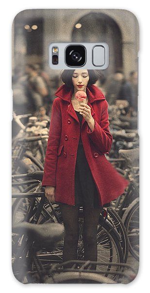 Bicycle Galaxy Case - raspberry sorbet in Amsterdam by Anka Zhuravleva
