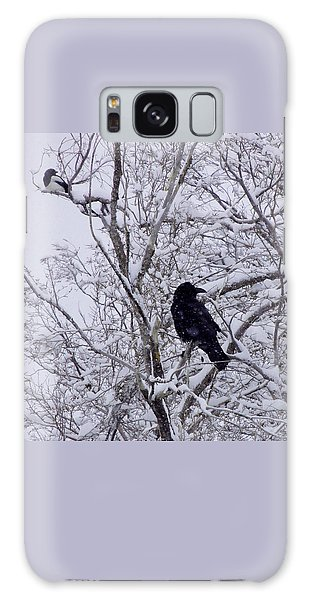 Raven And Magpie Galaxy Case