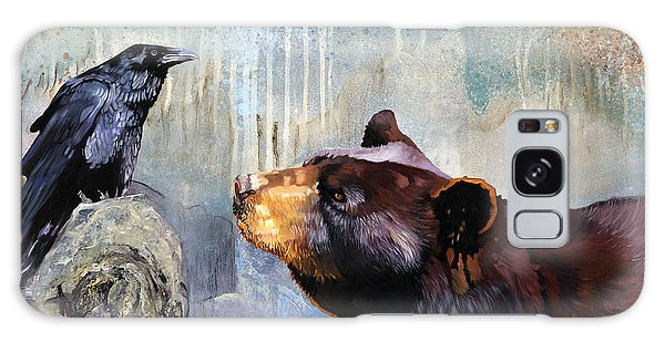 Raven And The Bear Galaxy Case by J W Baker