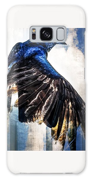 Galaxy Case featuring the photograph Raven Attitude by Carolyn Marshall