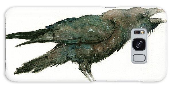 Crow Galaxy S8 Case - Raven Bird by Juan Bosco