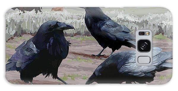 Raven Gathering Galaxy Case