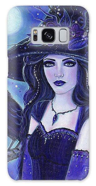 Halloween Galaxy Case - Raven Halloween Witch by Renee Lavoie