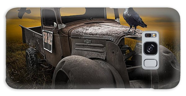 Raven Hood Ornament On Old Vintage Chevy Pickup Truck Galaxy Case