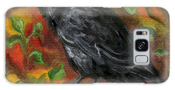 Raven In Autumn Galaxy Case