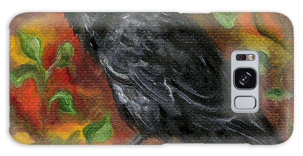 Raven In Autumn Galaxy Case