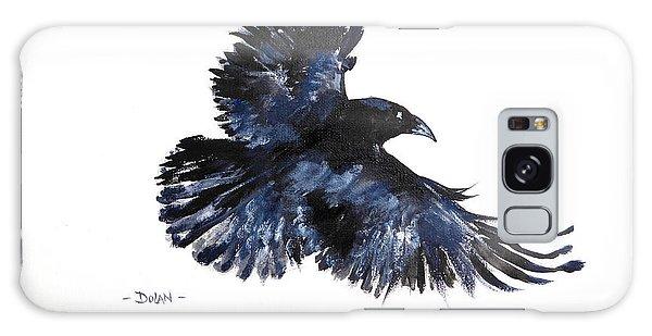 Raven In Flight Galaxy Case