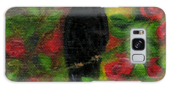 Raven In Roses Galaxy Case