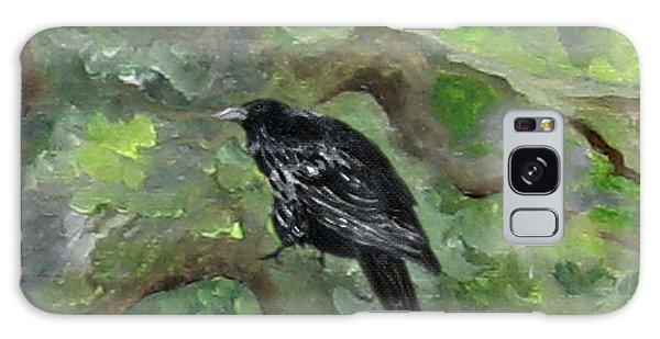 Raven In The Om Tree Galaxy Case