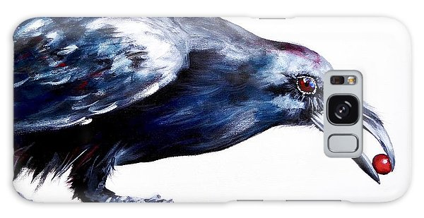 Raven With Berry Galaxy Case