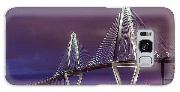 Ravenel Bridge At Sunset Galaxy Case