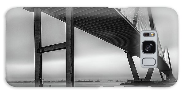 Ravenel Bridge November Fog Galaxy Case