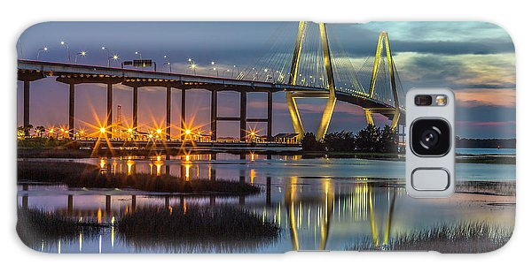 Ravenel Bridge Reflection Galaxy Case