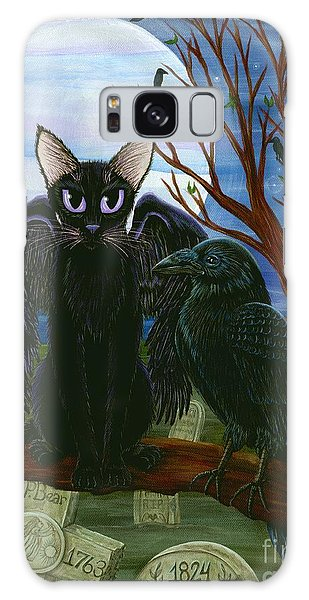 Raven's Moon Black Cat Crow Galaxy Case