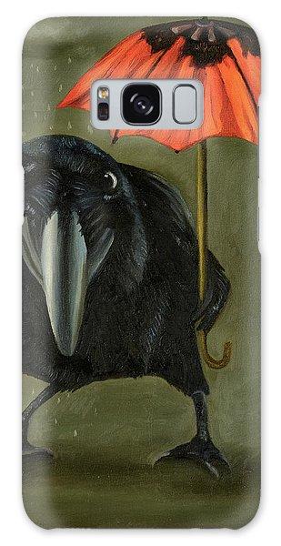 Strange Clouds Galaxy Case - Ravens Rain 2 by Leah Saulnier The Painting Maniac