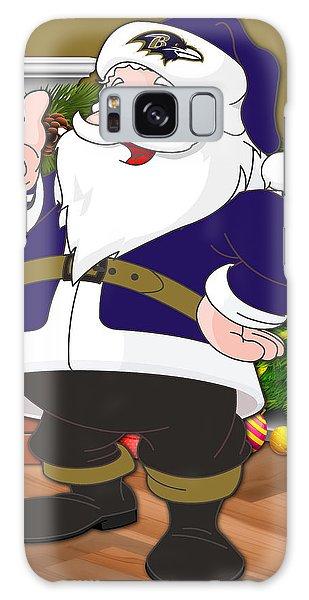 Santa Claus Galaxy Case - Ravens Santa Claus by Joe Hamilton
