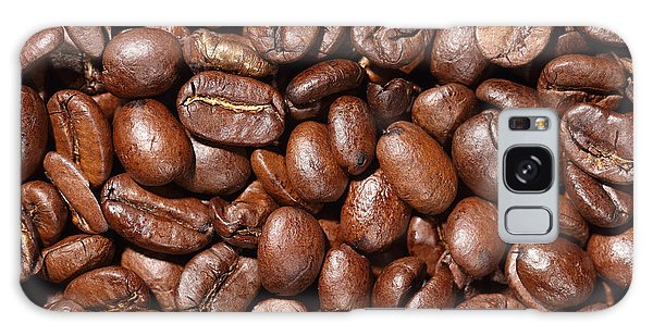Raw Coffee Beans Background Galaxy Case