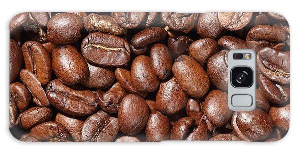 Raw Coffee Beans Background Galaxy Case