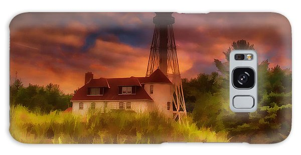 Rawley Point Lighthouse Galaxy Case by Joel Witmeyer