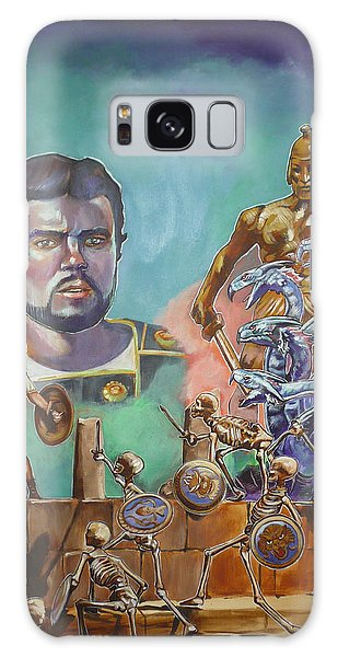 Ray Harryhausen Tribute Jason And The Argonauts Galaxy Case by Bryan Bustard