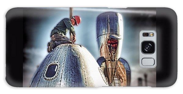Raygun Gothic Rocketship Safe Landing Galaxy Case