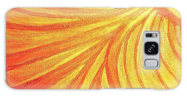 Rays Of Healing Light Galaxy Case