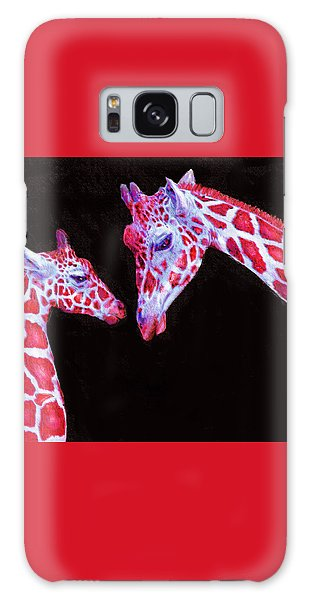 Read And Black Giraffes Galaxy Case by Jane Schnetlage