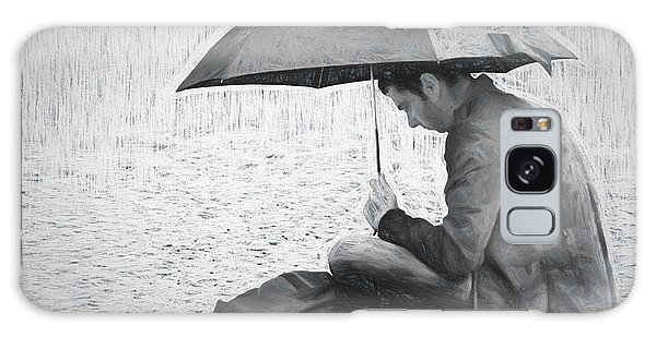 Reading In The Rain - Umbrella Galaxy Case by Nikolyn McDonald