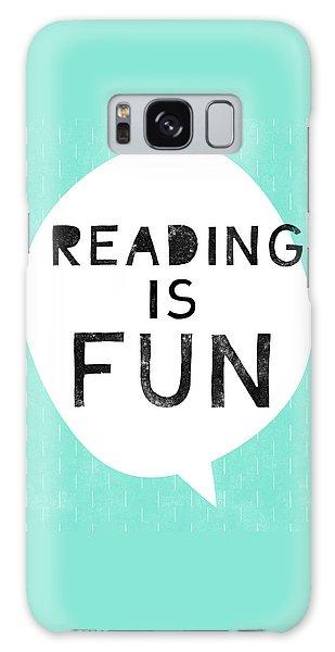 School Galaxy Case - Reading Is Fun- Art By Linda Woods by Linda Woods