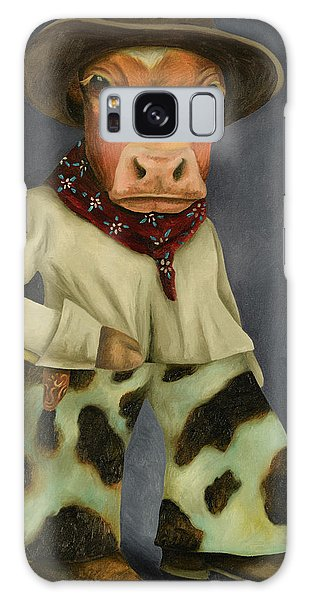 Real Cowboy 2 Galaxy Case by Leah Saulnier The Painting Maniac