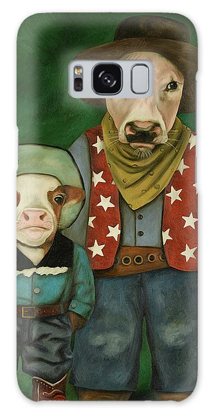 Real Cowboys 3 Galaxy Case by Leah Saulnier The Painting Maniac