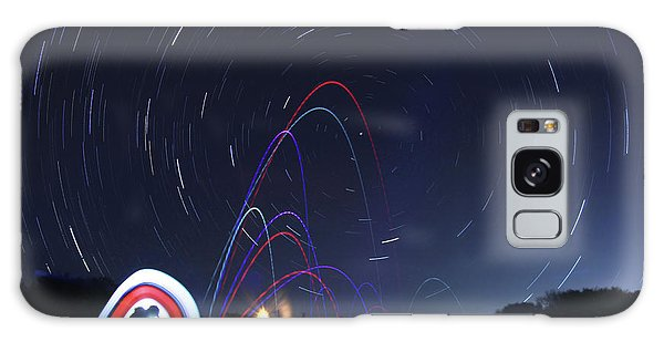Real Golfers Even Golf At Night Galaxy Case by Andrew Nourse