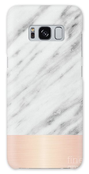Real Italian Marble And Pink Galaxy Case