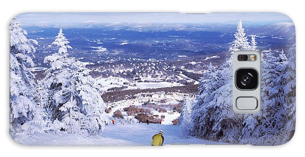 Cold Day Galaxy Case - Rear View Of A Person Skiing, Stratton by Panoramic Images
