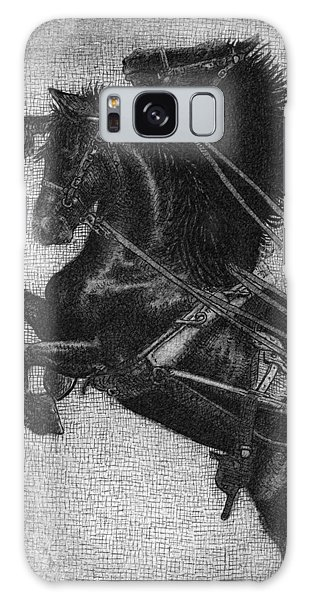 White Horse Galaxy S8 Case - Rearing Horses by Eric Fan